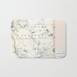 Northern California Map 1866 Bath Mat