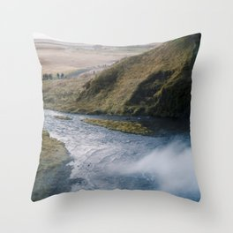 Seljalandsfoss Perspective Throw Pillow