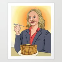 leslie knope Art Prints featuring Leslie Knope by Cara Andrianos