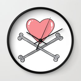 Pirated love Wall Clock