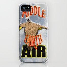 darrell merrill nerd artist: middle earth air iPhone Case