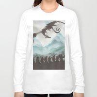 smaug Long Sleeve T-shirts featuring The Desolation of Smaug by JadeJonesArt