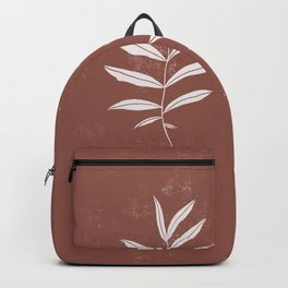 Abstract Leave Pattern Backpack