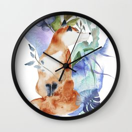 The Fox Minus the Hound Wall Clock