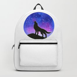 Galaxy Wolf Silhouette Backpack