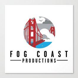 Fog Coast Productions Logo White Canvas Print