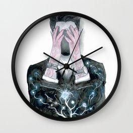 Man Portrait Drawing Wall Clock