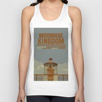 moonrise kingdom Tank Tops featuring Moonrise Kingdom by FunnyFaceArt