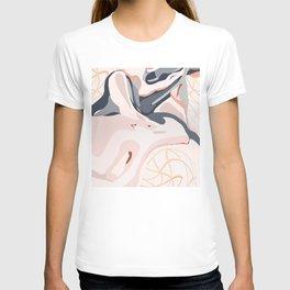 Elegant Zen Marbled Effect Design T-shirt