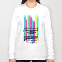 typewriter Long Sleeve T-shirts featuring Typewriter by Elizabeth Cakovan