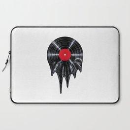 Melting vinyl / 3D render of vinyl record melting Laptop Sleeve