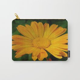 Pale Orange Marigold Flower With Garden Background  Carry-All Pouch