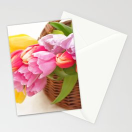 Tulip in a basket Stationery Cards