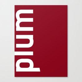Colors - Plum Canvas Print