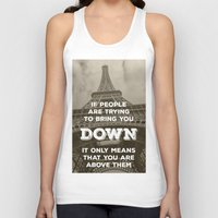 eiffel Tank Tops featuring Eiffel tower by Solar Designs