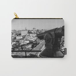 A coin operated scope and the Porto Cityscape, Porto, Portugal Carry-All Pouch