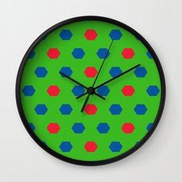 Honeycombs pattern Wall Clock