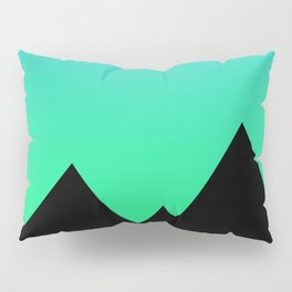 Mountains at Sunset (Blue & Green) Pillow Sham