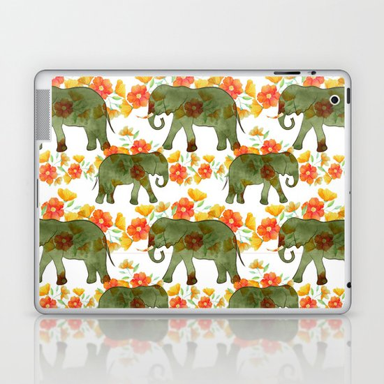 Wading Elephants Laptop & iPad Skin