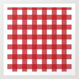 Buffalo Plaid in Red Art Print