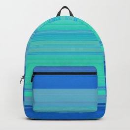 blue turquoise horizontal lines Backpack