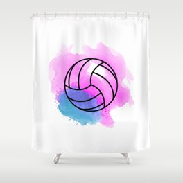 Volleyball Watercolor Shower Curtain
