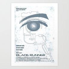 BLADE RUNNER (White - Voight Kampf Test Version) Art Print