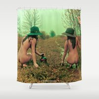 hippie Shower Curtains featuring Hippie Life by sysneye
