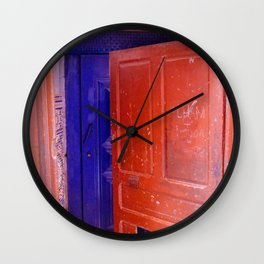 Colorful Moroccan Door in Marrakech Wall Clock
