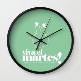 Viva el martes! Wall Clock