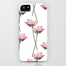 Lotos flower patern iPhone Case