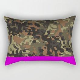 Magenta Fleck Tarn Camo Rectangular Pillow