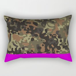 Magenta Fleck Tarn Camo Rectangular Pillow
