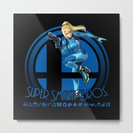 Zero Suit Samus - Super Smash Bros. Metal Print