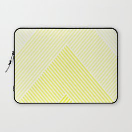 Shades of Yellow Abstract geometric pattern Laptop Sleeve