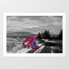Unseen Monsters of Mount Shasta - Rossivink Deshla Art Print