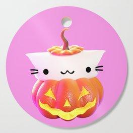 Pumpkin Cat Cutting Board