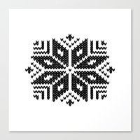 knit Canvas Prints featuring knit flake by Miranda J. Friedman
