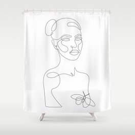 Covered With Butterfly Shower Curtain