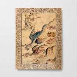 Flight of Dragons - Garden of Beasts Collection Metal Print