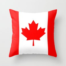Canadian National flag, Authentic color and 3:5 scale version Throw Pillow