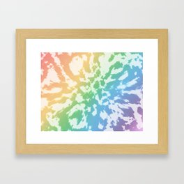 Rainbow Tie-Dye Framed Art Print
