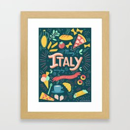 Missing Italy everyday poster Framed Art Print