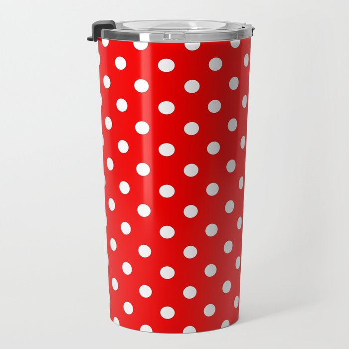 Girls just wanna have dots - red/white Travel Mug