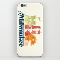 milwaukee iPhone & iPod Skins featuring MKE ~ Milwaukee, WI by Jeremy Pettis