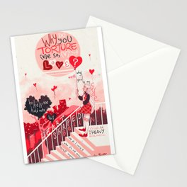 Heart Shaped Balloon Stationery Cards