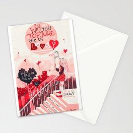 Heart Shaped Balloon Stationery Cards