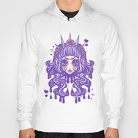 pastel goth Hoodies featuring Pastel Goth Princess by Miss Jediflip