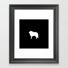 Big White Dog Framed Art Print