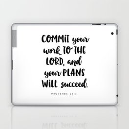 Proverbs 16:3 - Bible Verse Laptop & iPad Skin